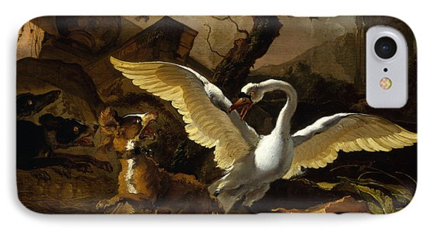 A Swan Enraged By Hondius IPhone Case