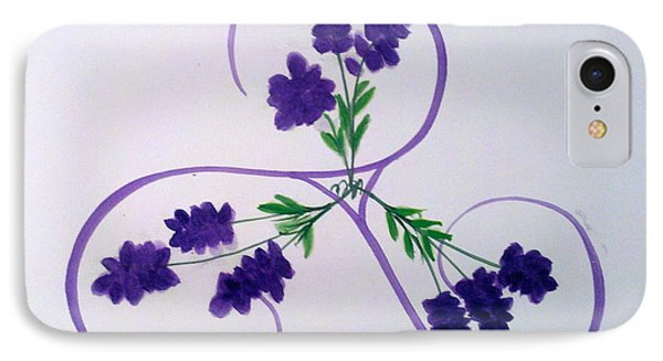 A Triskele Of Lavender IPhone Case