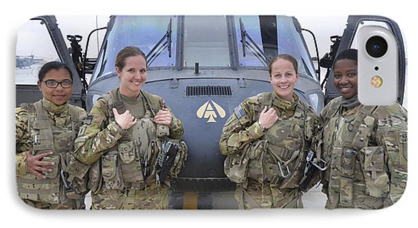 Helicopter iPhone 8 Case - A U.s. Army All Female Crew by Stocktrek Images