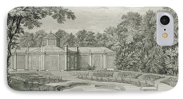 A View Of The Aviary And Flower Garden At Kew IPhone Case