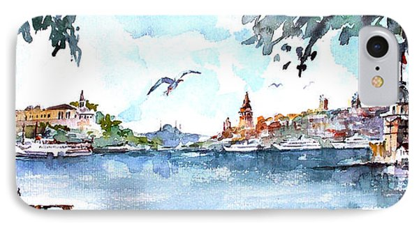 A View Of The Historical Peninsula From Uskudar - Istanbul IPhone Case