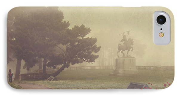 Garden iPhone 8 Case - A Walk In The Fog by Laurie Search