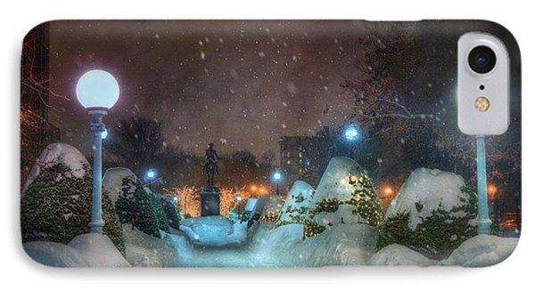 A Walk In The Snow - Boston Public Garden IPhone Case