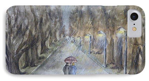 A Wet Evening Stroll IPhone Case