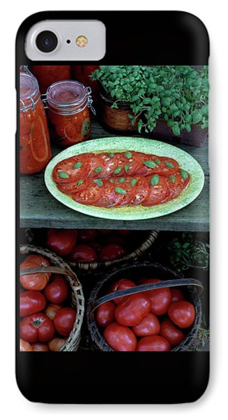 A Wine & Food Cover Of Tomatoes IPhone Case