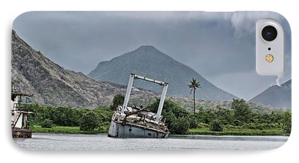 Abandoned Ships With Volcano IPhone Case