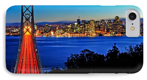 Above The Bay Bridge And San Francisco Skyline IPhone Case