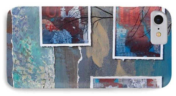 Abstract Branch Collage Trio IPhone Case