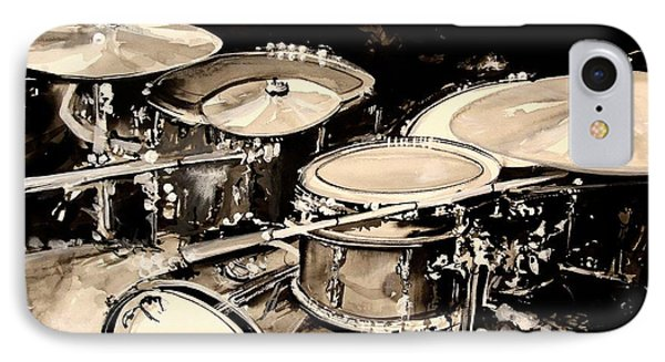 Drum iPhone 8 Case - Abstract Drum Set by J Vincent Scarpace