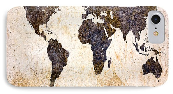 Abstract Earth Map IPhone Case