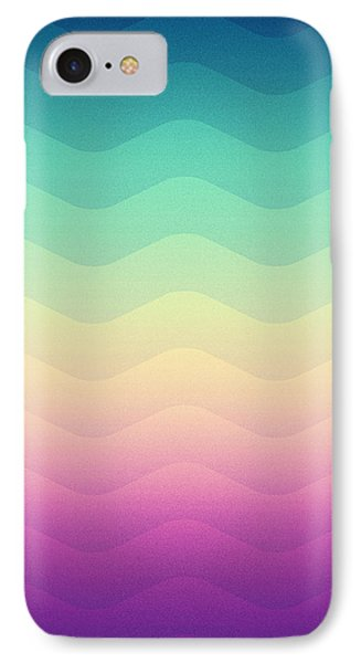 Abstract Geometric Candy Rainbow Waves Pattern Multi Color IPhone Case