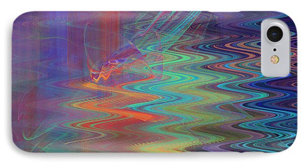 Abstract In Blue And Purple IPhone Case