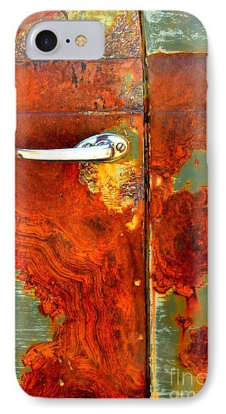 Abstract In Rust 24 IPhone Case