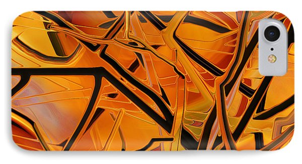 Abstract - Tangled Brush IPhone Case