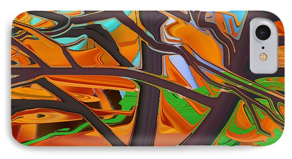 Abstract - Tree In Autumn IPhone Case