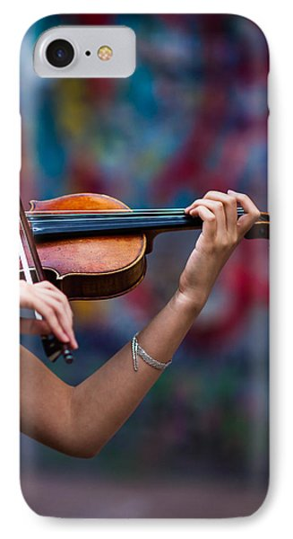 Violin iPhone 8 Case - Abstracts From Vivaldi - Featured 3 by Alexander Senin