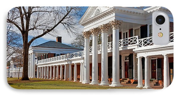 Academical Village At The University Of Virginia IPhone Case