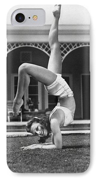 Actress Vera Zorina Exercising IPhone Case