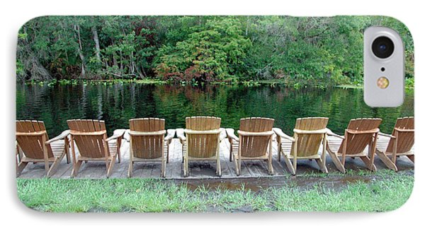 Adirondack Chairs By Lake IPhone Case