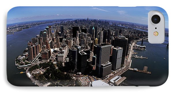Aerial View Of A City, New York City IPhone Case