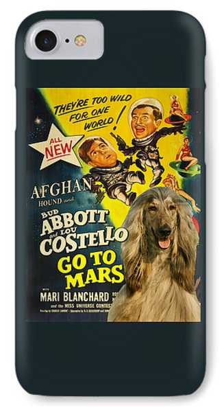 Afghan Hound Art- Abbott And Costello Go To Mars Movie Poster IPhone Case