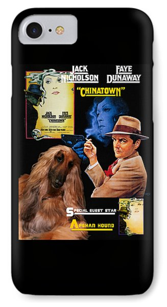 Afghan Hound Art - Chinatown Movie Poster IPhone Case