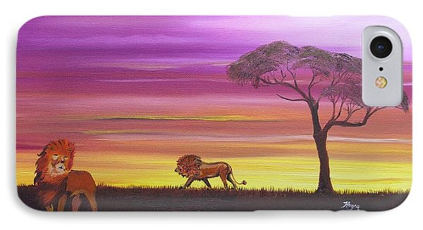 African Lions IPhone Case