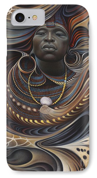 Africa iPhone 8 Case - African Spirits I by Ricardo Chavez-Mendez