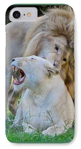 African White Lions IPhone Case