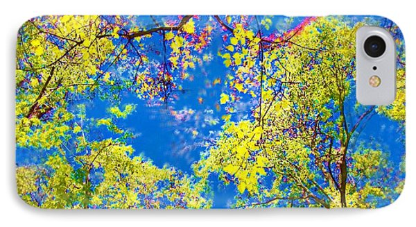 Air Brushed Spring Trees IPhone Case