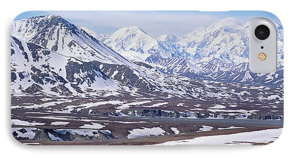 Alaska Range In Spring Snow Denali N P IPhone Case