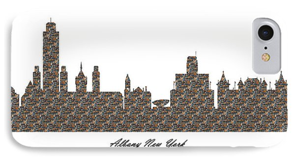 Albany New York 3d Stone Wall Skyline IPhone Case