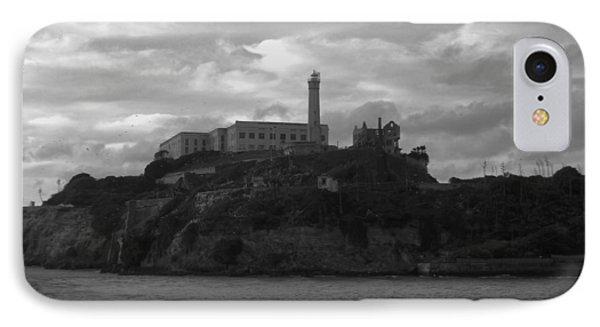 Alcatraz Island B N W IPhone Case