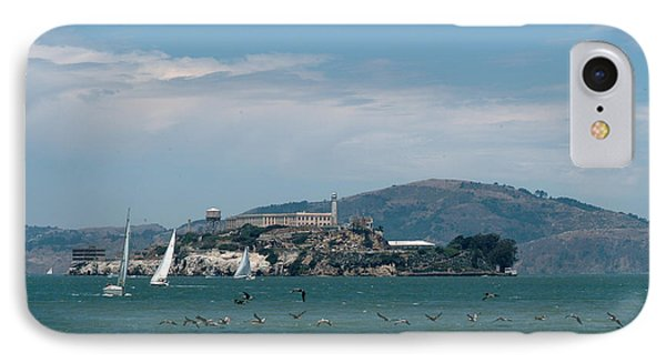 Alcatraz With Pelicans IPhone Case