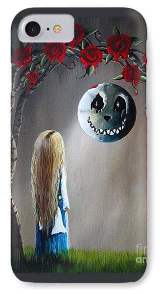 Alice In Wonderland Original Artwork - Alice And The Beautiful Nightmare IPhone Case