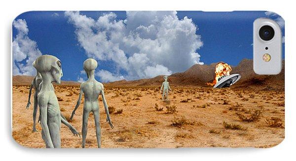 Alien Crash Ver - 2 IPhone Case