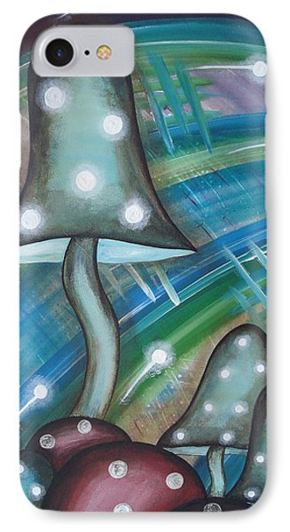 Alien Mushrooms IPhone Case