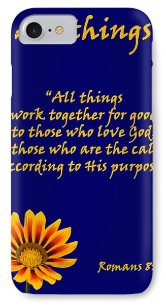All Things Romans Chapter Eight Verse Twenty Eight. IPhone Case