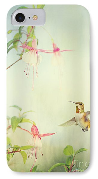 Allen's Hummingbird And Fuschia IPhone Case