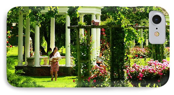 Allentown Pa - Walk In The Rose Gardens IPhone Case