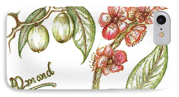 Almond With Flowers IPhone Case