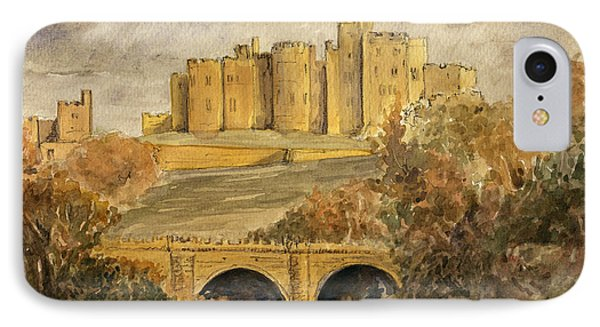 Castle iPhone 8 Case - Alnwick Castle by Juan  Bosco