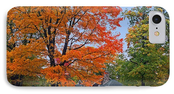 Along Lower Shore Drive In Autumn 2014 IPhone Case