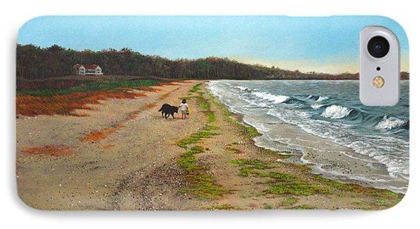 Along The Shore In Hyde Hole Beach Rhode Island IPhone Case