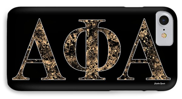 Alpha Phi Alpha - Black IPhone Case