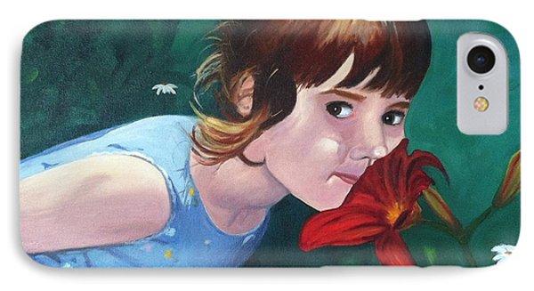 Amanda Smells The Flower IPhone Case