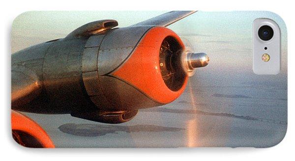 American Airlines Douglas Dc-6 Propellers In Flight IPhone Case