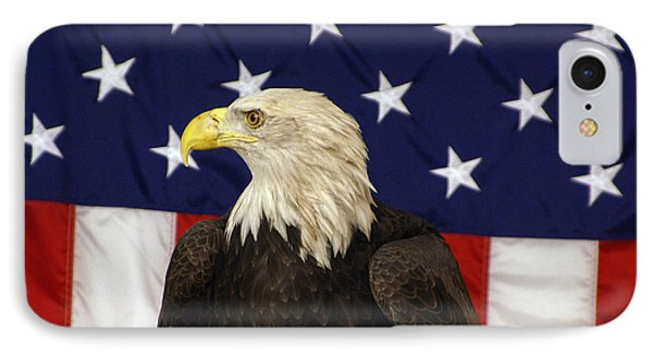 American Eagle And Flag IPhone Case
