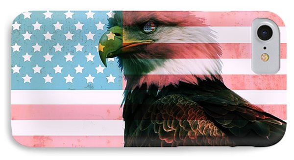 American Flag And Bald Eagle IPhone Case