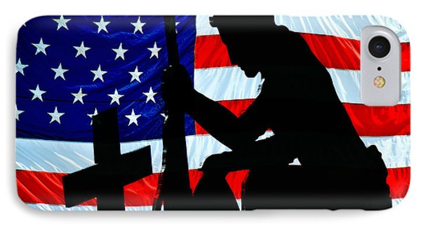 A Time To Remember American Flag At Rest IPhone Case